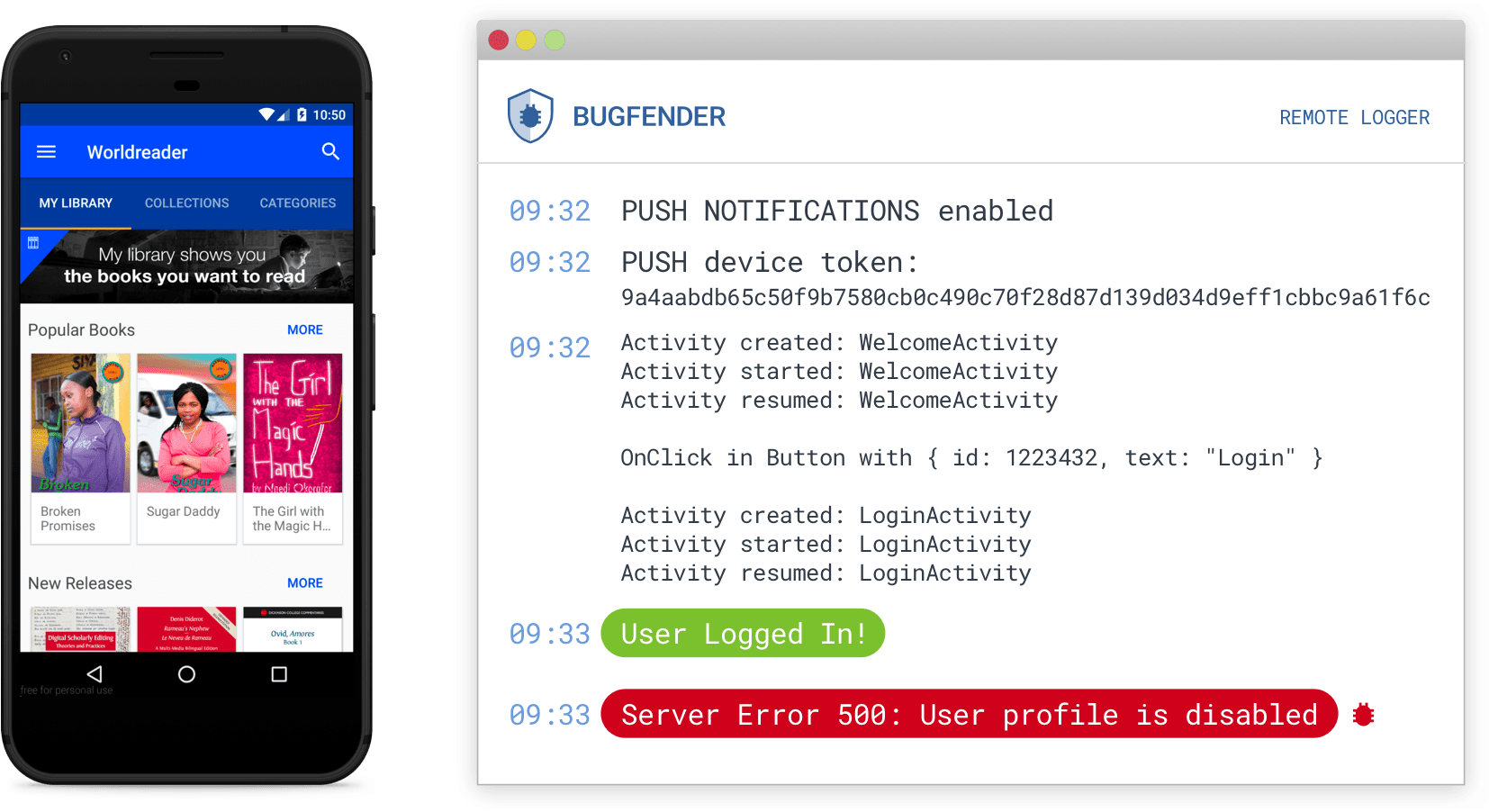 Android Remote Logging bugfender for android | bugfender